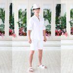 ホワイトパーティーに参加を検討している男性のための服装モデル